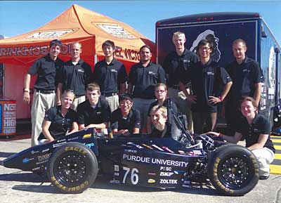Purdue University Auto Engineering Team uses NVision Technology for auto racing